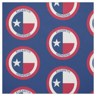 Texas The Lone Star Personalized Flag Fabric