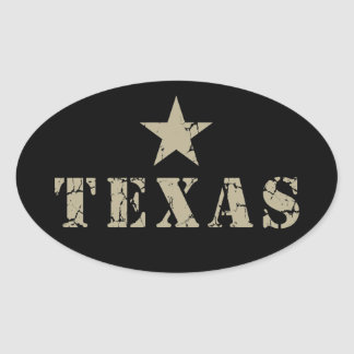 Texas, the Lone Star State Oval Sticker