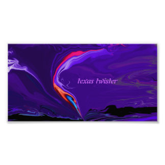 Texas twister poster print