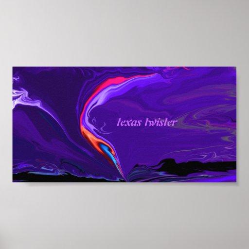 Texas twister poster print