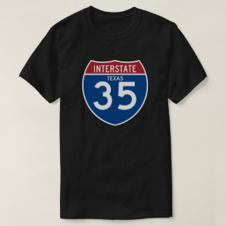 Texas TX I-35 Interstate Highway Shield - T-Shirt