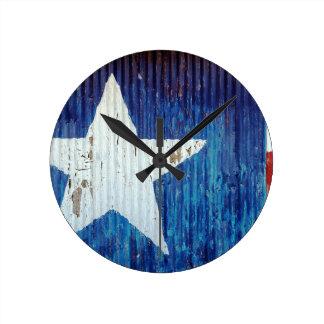 Texas Usa United States America Round Clock