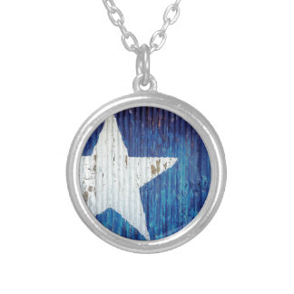 Texas Usa United States America Silver Plated Necklace