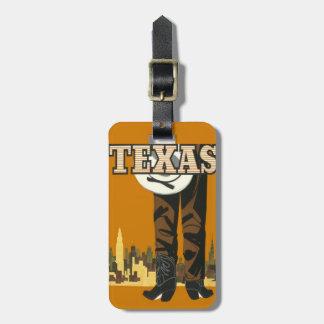 Texas Vintage Travel custom luggage tag