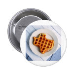 Texas Waffle 2 Inch Round Button