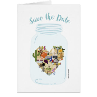 Texas Wedding Save the Date card