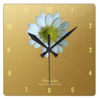 Texas Windflower Graduation Celebration Dorm Square Wall Clock