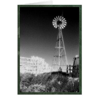 Texas Windmill Christmas Card