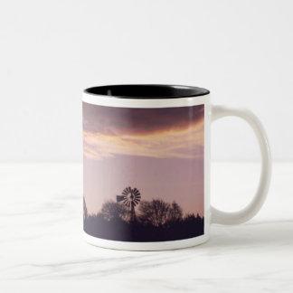 Texas Windmill Sunset Mug