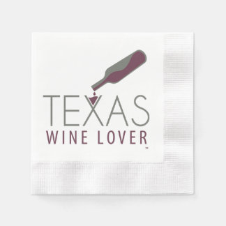 Texas Wine Lover Cocktail Napkin Disposable Napkin