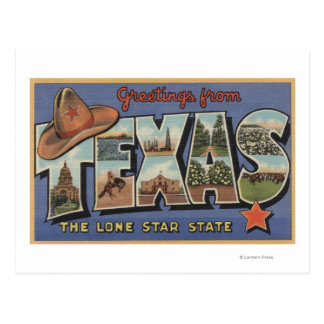 TexasGreetings From The Lone Star State Postcard