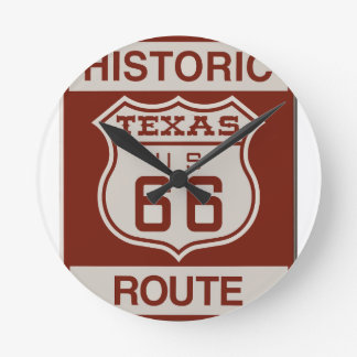 TEXASROUTE66 ROUND CLOCK