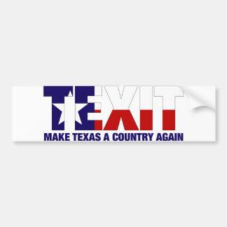 Texit Bumper Sticker
