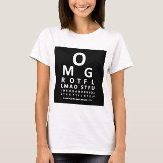 Text Addict's Eye Chart T-Shirt