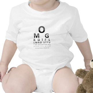 Text Addict's Eye Chart Baby Bodysuits