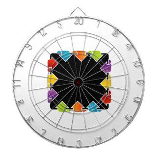Text box with arrows dartboard with darts