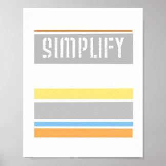 text design poster Simplify pastel stripes