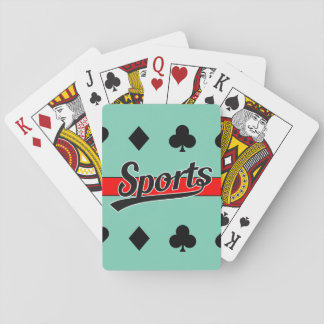 Text Design: SPORTS black + your own text & ideas Poker Deck