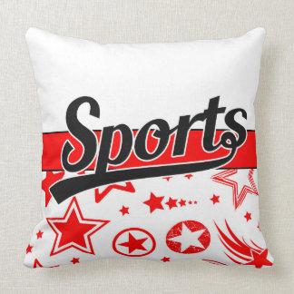 Text Design: SPORTS black + your own text & ideas Throw Pillow
