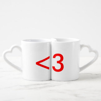 Text Heart Connecting Mug Set