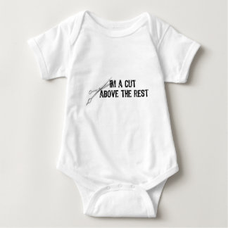 Text-I'm A Cut Above The Rest With Scissors- Black Baby Bodysuit
