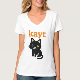 Text in Manx: kayt and black cat T-Shirt