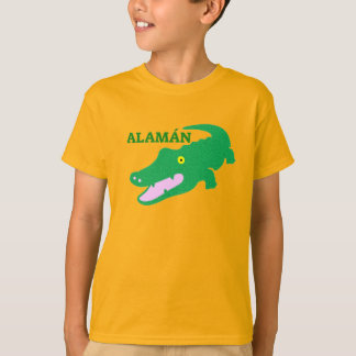Text in Pijao: Alamán and green crocodile T-Shirt