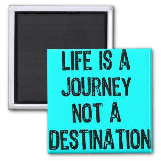Text-Life is A Journey Not A Destination-Black/Blu Magnet