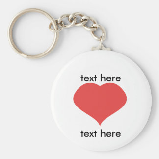 text LOVE text Basic Round Button Keychain