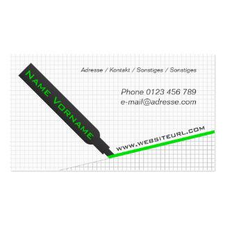 Text marker business card