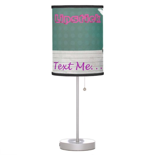 Text Me, Lipstick Girl Tall Lamp