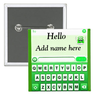 Text Me_ Pinback Button