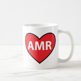 Text Message Spanish Amor AMR heart Coffee Mug