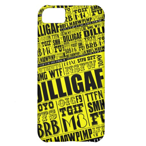 Text messaging slang case for iPhone 5C
