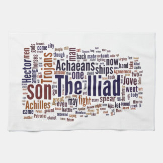 Text of The Iliad by Homer Kitchen Towel