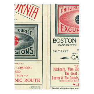Text Page of Phillips Tourist Excursions Postcard