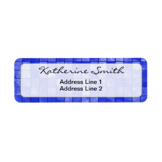 Text Template, Duo-tone Cobalt Blue Tiles