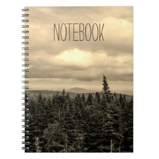 Text Template | Sepia Landscape Notebook