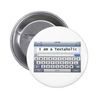 Textaholic 2 Inch Round Button