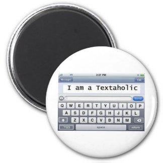 Textaholic 2 Inch Round Magnet