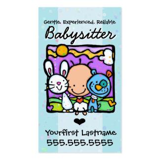 Texte/couleur de Babysitter.Nanny.Childcare.Custom Carte De Visite Standard