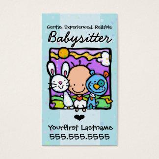 Texte/couleur de Babysitter.Nanny.Childcare.Custom Cartes De Visite