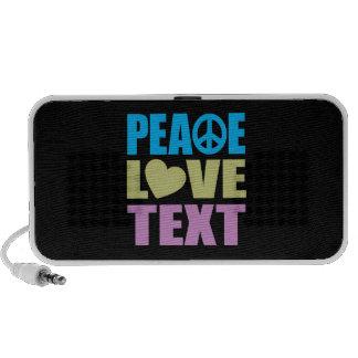 Texte d'amour de paix haut-parleurs