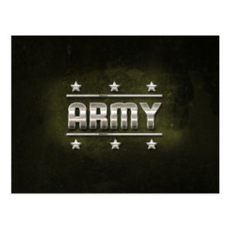 Texte d'armée en métal carte postale