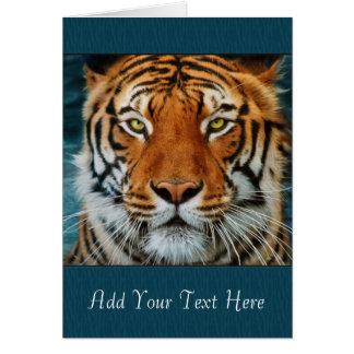 Texte de coutume de tigre carte de vœux