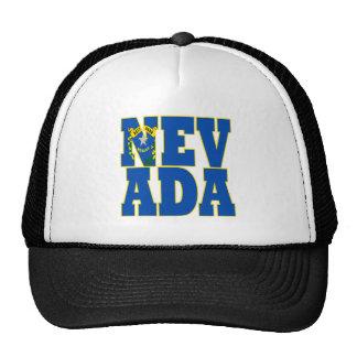 Texte de drapeau d'état du Nevada Casquettes De Camionneur