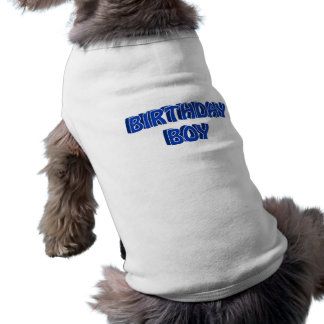 Texte de garçon d'anniversaire manteaux pour chien