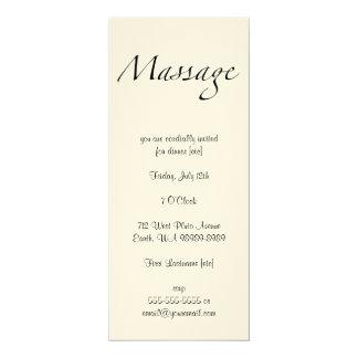 Texte de massage carton d'invitation  10,16 cm x 23,49 cm