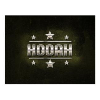 Texte en métal Hooah Cartes Postales