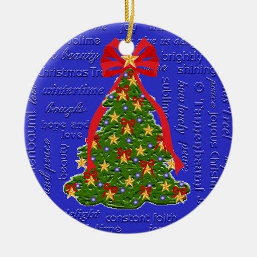Textes de l'ornement O Tannenbaum d'arbre de Noël